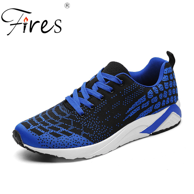Fires Men Mesh Sport Shoes Outdoor Running Sneakers Male Breathable Trainning Shoes Hombre Jogging Shoes Man Sneaker