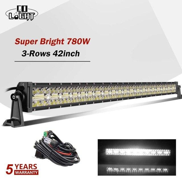 """CO işık 42 """"780 W Led bar ışığı Offroad 3 satır Combo Led İş işık 12V 24V 390W 585W için sürüş lambası Niva kamyon 4x4 tekne ATV"""