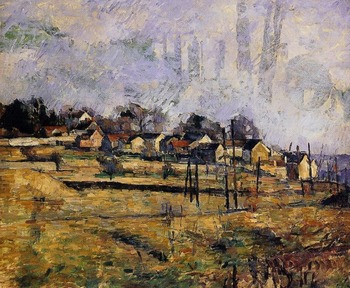 oil paintings,100% hand made Oil Painting Reproduction on linen canvas,landscape-1881 by paul Cezanne,landscape oil painting