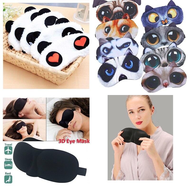 Hot New 1Pcs 3D Sleep Mask Natural Sleeping Eye Mask Eyeshade Cover Shade Eye Patch Women Men Soft Portable Blindfold Travel