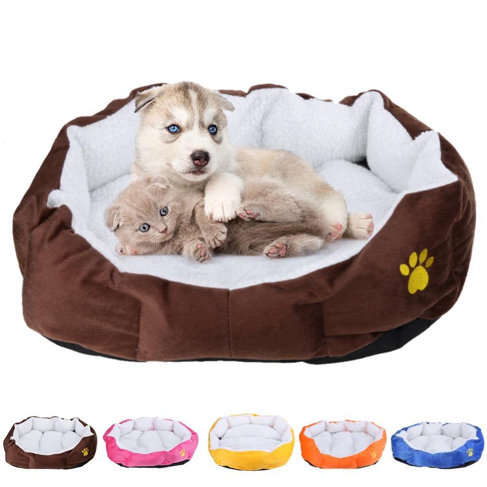 Cama del perro de calentamiento Casa de perro suave Material de nido perro cestas caen y el invierno cálido paño grueso y suave estera perrera para gato cachorro