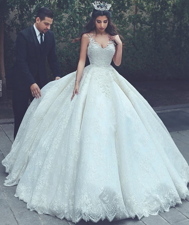 Princess Lace Wedding Dress Ball Gown Bridal Dress Wedding Gown Dresses For Bride Superbweddingdress