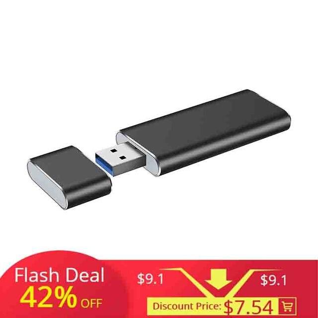 USB3.0 a M.2 NGFF SSD carcasa unidad de estado sólido externa caso adaptador UASP SuperSpeed 6 Gbps para 2230 de 2242 M.2 NGFF SSD