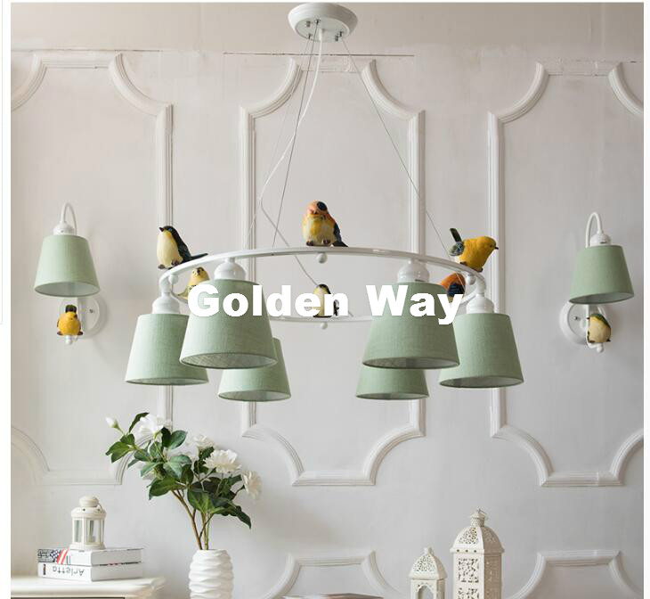 Free Shipping 3L/6L Bird LED Modern Nordic Style Creative Brief Restaurant Lights Bird Personalized Rustic Fabaric Pendant Lamp free shipping 251modern brief nordic european style new product resin cement pendant lamp