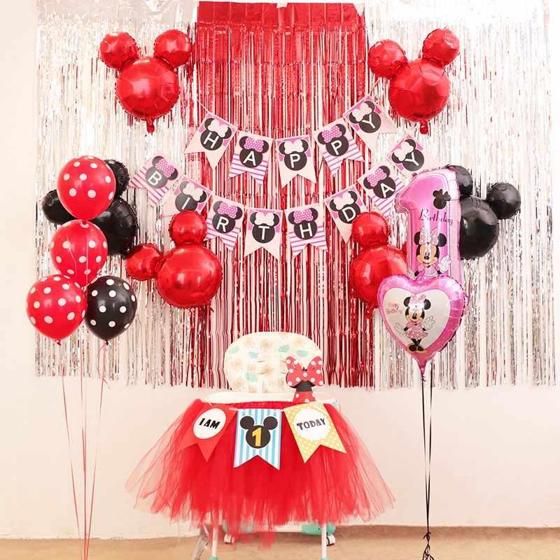 Big Balloon Baby Shower Mini Head Helium Number 1st Cake Heart Ballon Birthday Party Decorations Kids Children Girl Gift 1th Toy