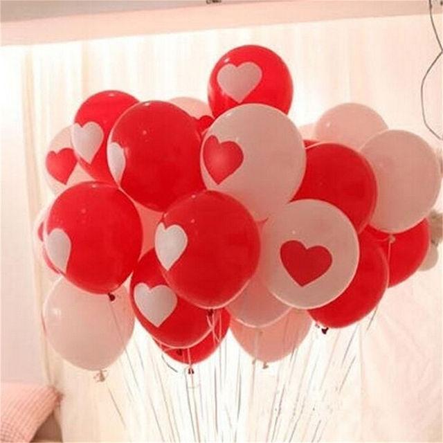 Heart Printed Balloons