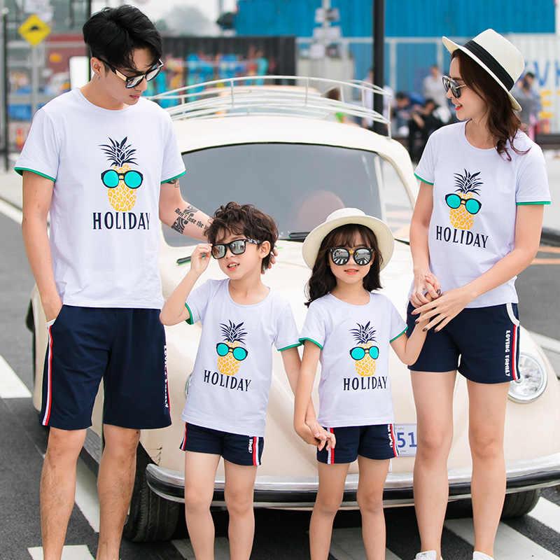 สำหรับครอบครัวLove Tเสื้อMommyและMeแม่ลูกสาวพ่อSon Teeเสื้อชุดครอบครัวชุดดูฤดูร้อน