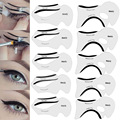 10 Pcs Eyebrows Stencils Kits Cat Eye,Smokey Eye Makeup Eyeliner Stencil 2 Sides Repeatable Use Eye Liner Card Eye Template Tool