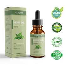 30ML Hemp Oil Extract for Pain, Anxiety & Stress Relief - 500/100mg of Organic