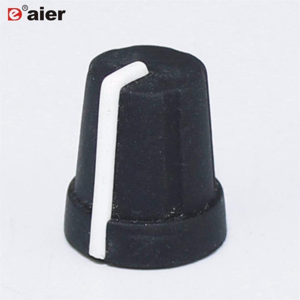 10 шт. 15x16 мм внахлест управления 6 мм ручка потенциометра черные резиновые колпачки 18 зубцов внахлест диаметр отверстия вала с белой указкой|Аксессуары для переключателей|   | АлиЭкспресс