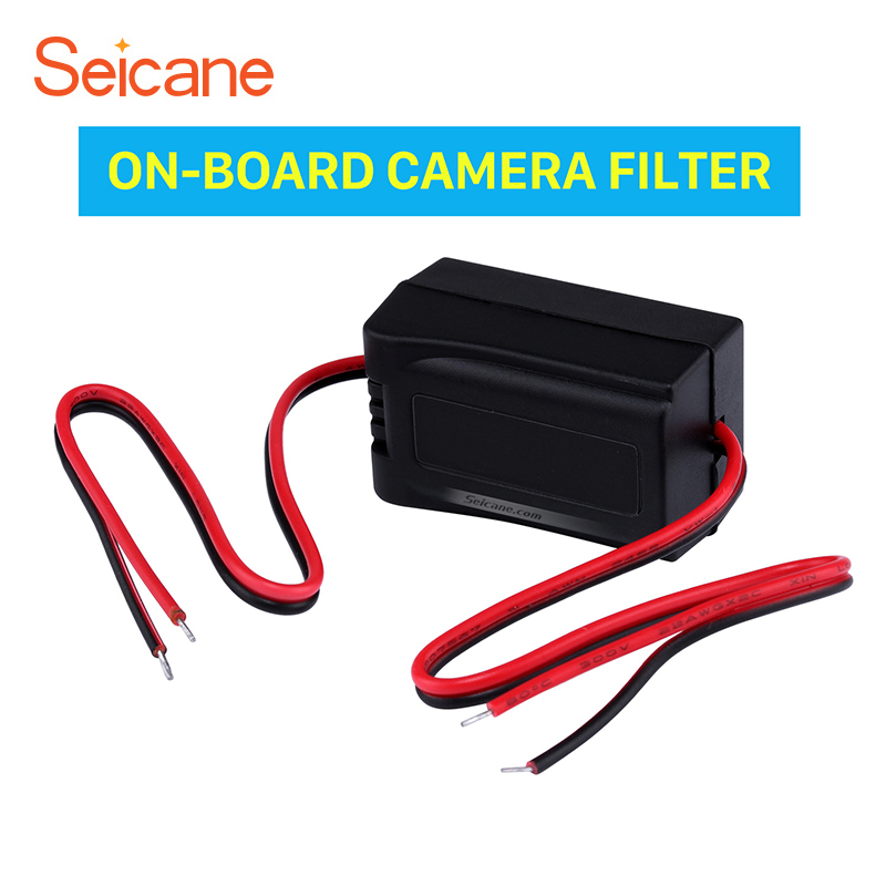 Seicane Upgrade Vehicle Rearview Reverse Video Cables Capacitor ON-BOARD CAMERA FILTER Adapter free shipping easy to install