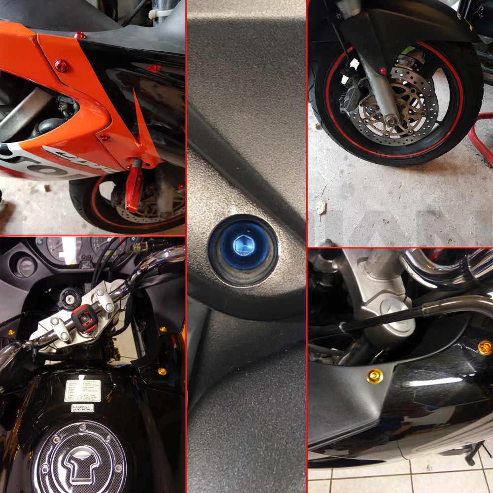 6 مللي متر دراجة نارية CNC هدية الجسم العمل البراغي مسامير 10 قطعة ل honda cbr 1000 rr 1000rr 2004 2005 2006 2007 cbr1000rr BMW S1000R