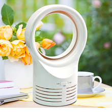 Bladeless Small Fan Round desktop creative leafless fan Air Cooling Fan Blower Air Cooler Air Purifier White Mini Fan