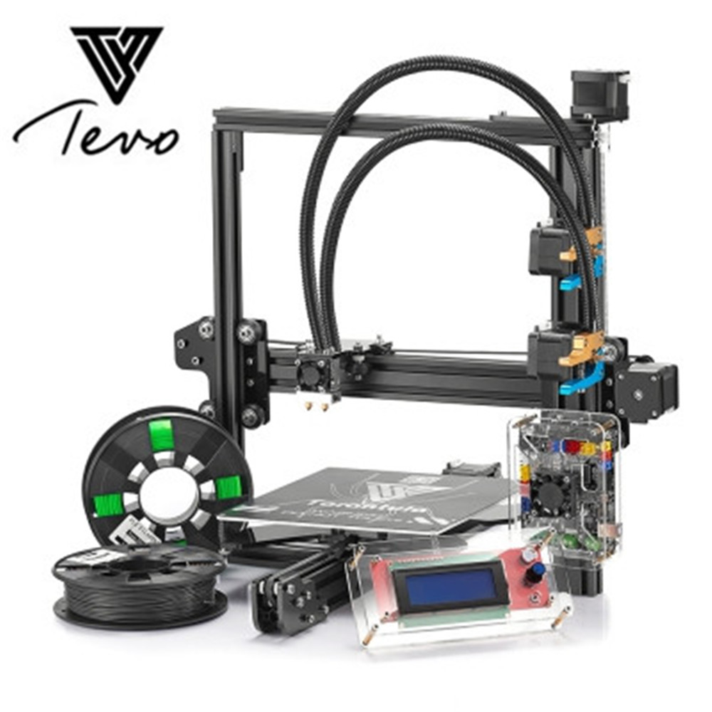 Tevo Tarantula nouvelle imprimante 3D Titan extrudeuse kit de bricolage imprimante 3D 2 Filaments Titan extrudeuse 8 GB carte SD TEVO imprimante 3D