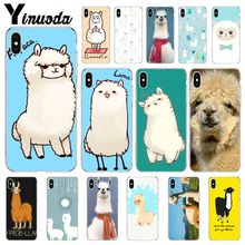 Yinuoda Lama Llama Alpacas Animal Pattern TPU Phone Cell Case for iPhone X XS MAX  6 6s 7 7plus 8 8Plus 5 5S SE XR
