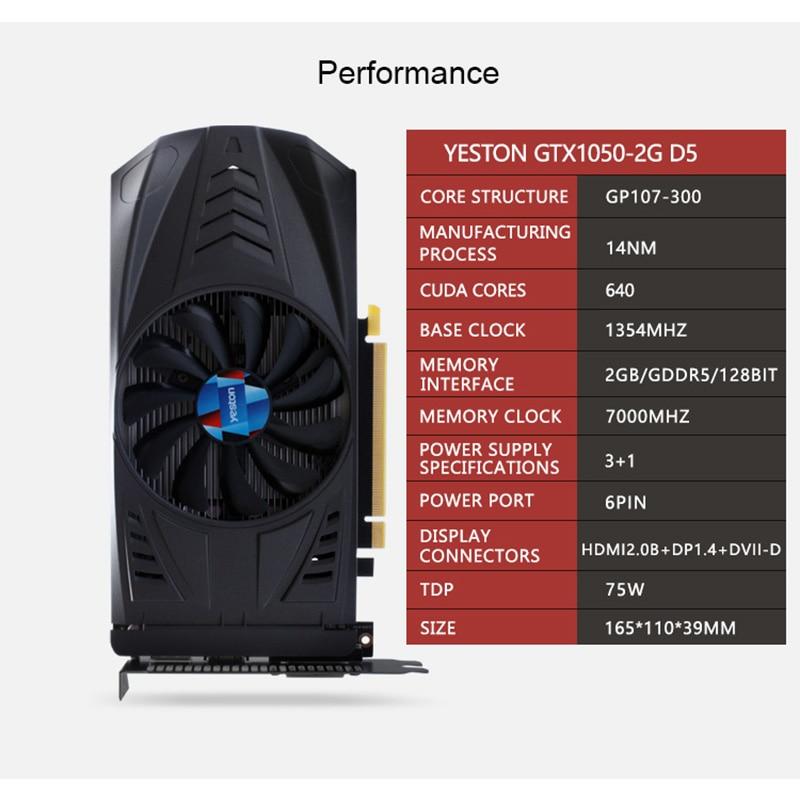 Yeston Geforce Gtx 1050 Gpu 2gb Gddr5 128 Bit Gaming Desktop