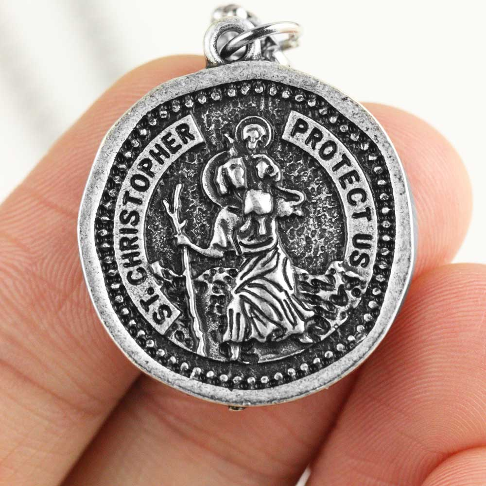Медальон Святого Кристофера, ожерелье, средневековая православная медаль покровителя, ювелирные изделия
