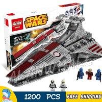 1200pcs Space Wars Venator Class Republic Attack Cruiser 05042 Model Building Blocks Toys Bricks Games Compatible