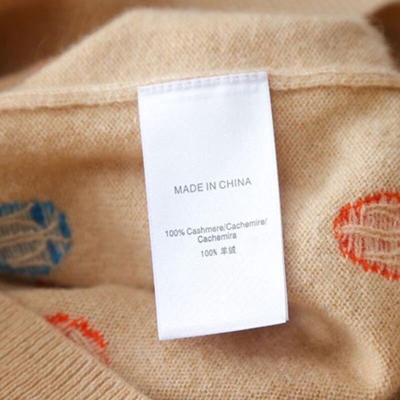 Femmes Blouson Manches Tricot pink Hauts Pour Pur Pull Gray Tricoter Cachemire Femme Brodé Slim Col Automne À Longues Sweter 2018 BCBrx1zqw