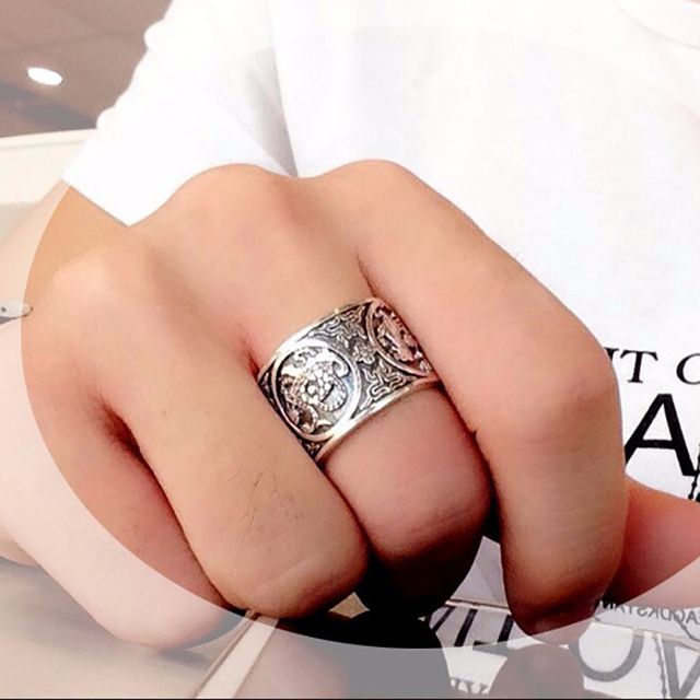 Chinese Traditional Culture 999 Sterling Silver Ring 3
