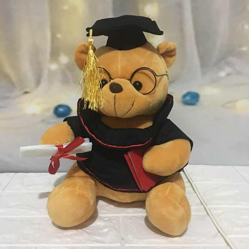 1pc 18 centimetri Carino Dr. Orso di Peluche Giocattolo Farcito Peluche Kawaii Teddy Bear Animale Bambole di Laurea Regali per I Bambini dei bambini Delle Ragazze