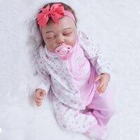 Супер реалистичная 52 см мягкая силиконовая кукла Reborn Baby 21 игрушка для ребенка для новорожденных подарок для ребенка перед сном раннее Educatio