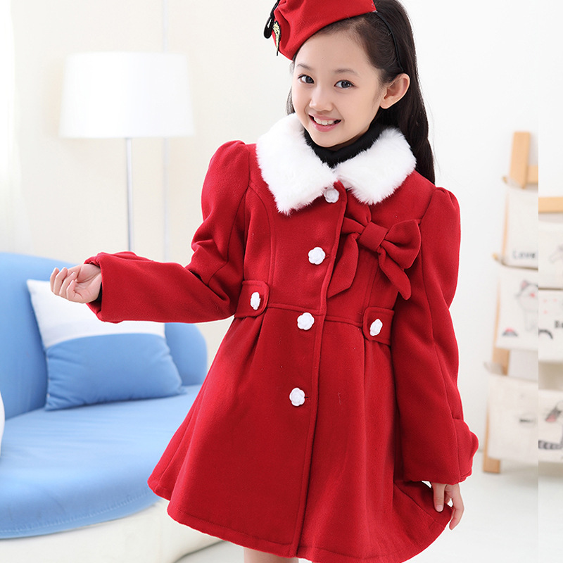 Fashion Autumn Winter Girls Wool Winter CoatsThickening Children ...