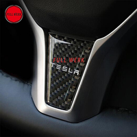 Car Styling Steering Sticker Decal Decoration Decor With Logo For Tesla Model S Model X Steering