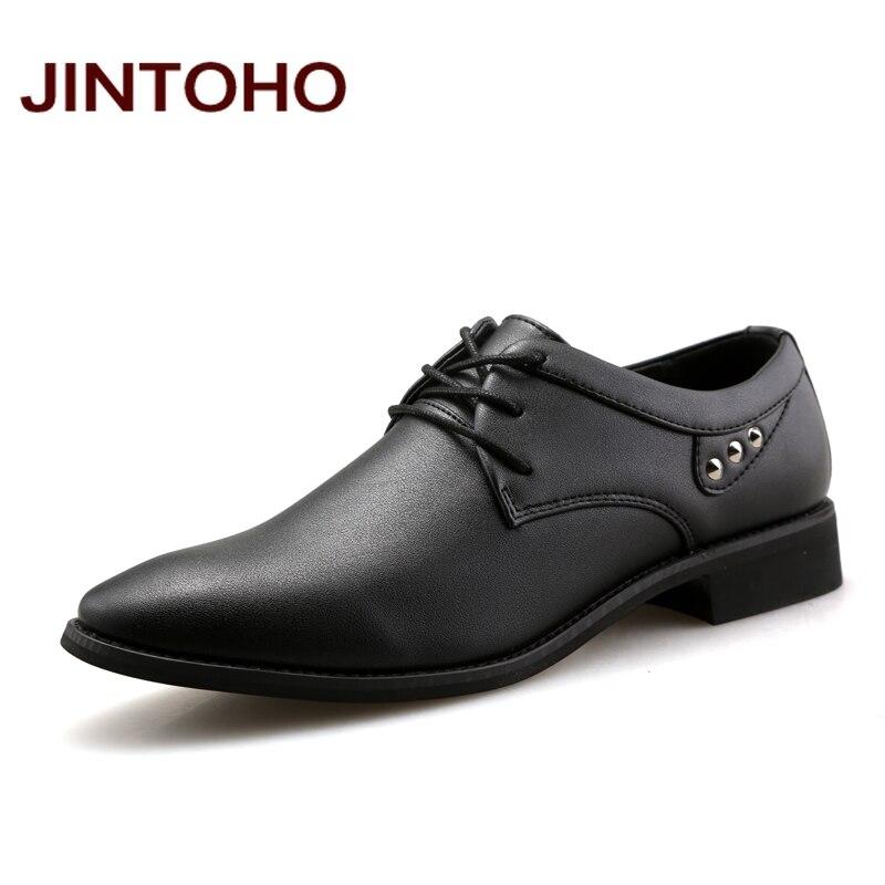 Jintoho Mens Dress Italian Leather Shoes Male Designer Moccasins