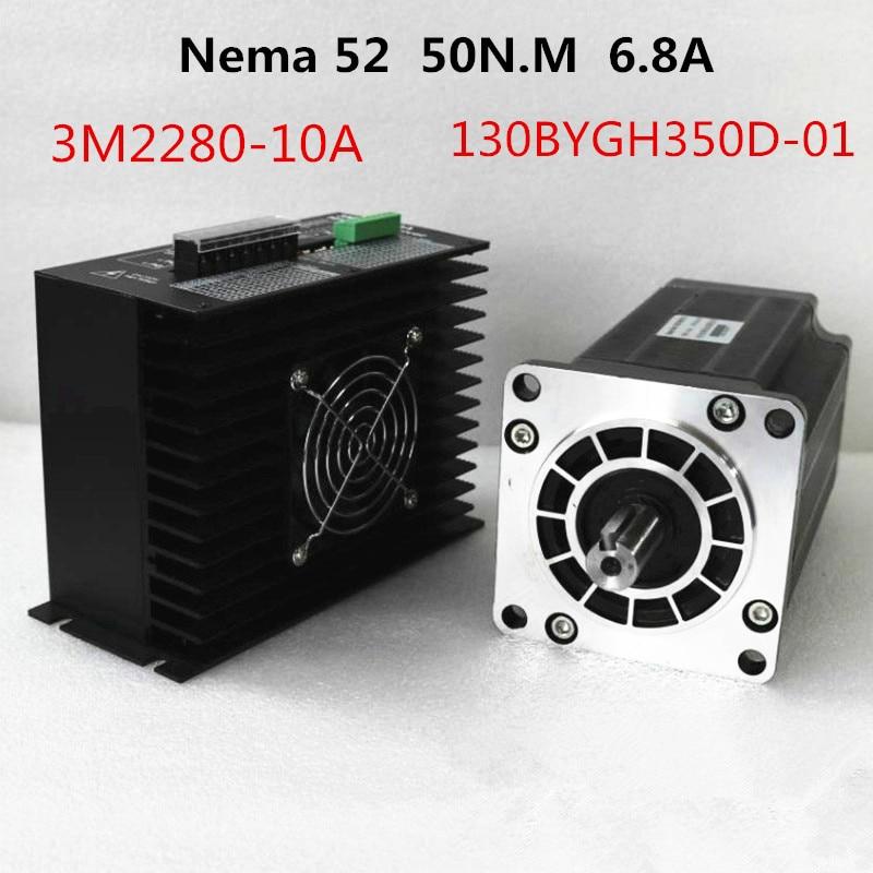 3Phase NEMA52 130mm 50N m AC Stepper Motor CNC Stepper Motor 130BYGH350D 01 1 2Degree 6