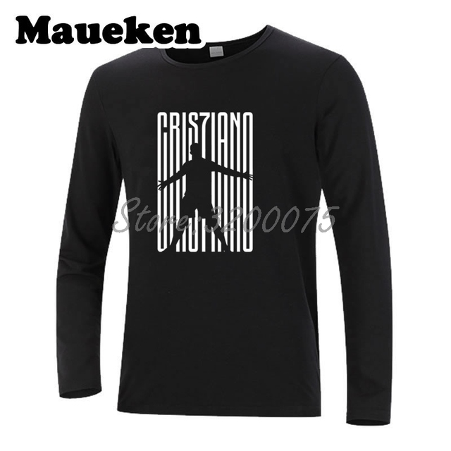 07854ab1343a8 Men Cristiano Ronaldo 7 CR7 JUVE Welcome To Long Sleeve T-Shirt Clothes T  Shirt Men s Autumn Winter W18071001