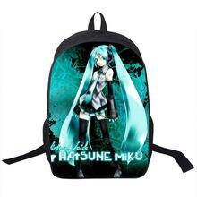 Hatsune Miku Rucksack Für Jugendliche Mädchen Jungen Schulrucksack Kinder Täglichen Rucksäcke Männer Frauen Reisetasche Kinder Schultaschen
