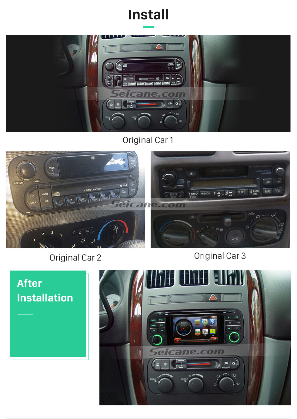 Seicane Wince 60 Touch Screen Car Dvd Headunit Stereo Player For Wiring Diagram 2002 Intrepid S106096w 01 02 03 04