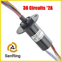 Shenzhen Manufactory Of Capsule Slip Ring 22 Mm With 36 Circuits With 2A Signal
