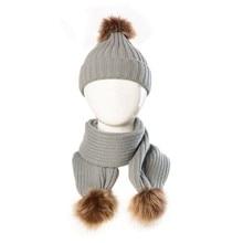 Baby Hat and Scarf children Winter Wool Scarf Set