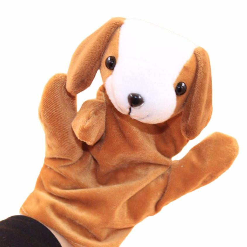 1 PC Baby Kids Child Animal Dog Finger Puppet Infant Kid Toy Plush Hand Puppets Toys For Children #XTT