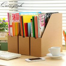 3Pcs/lot Kraft Paper Office Storage Box Desktop Document Organization Data File Storage Box Office Oragnizer School Supplies