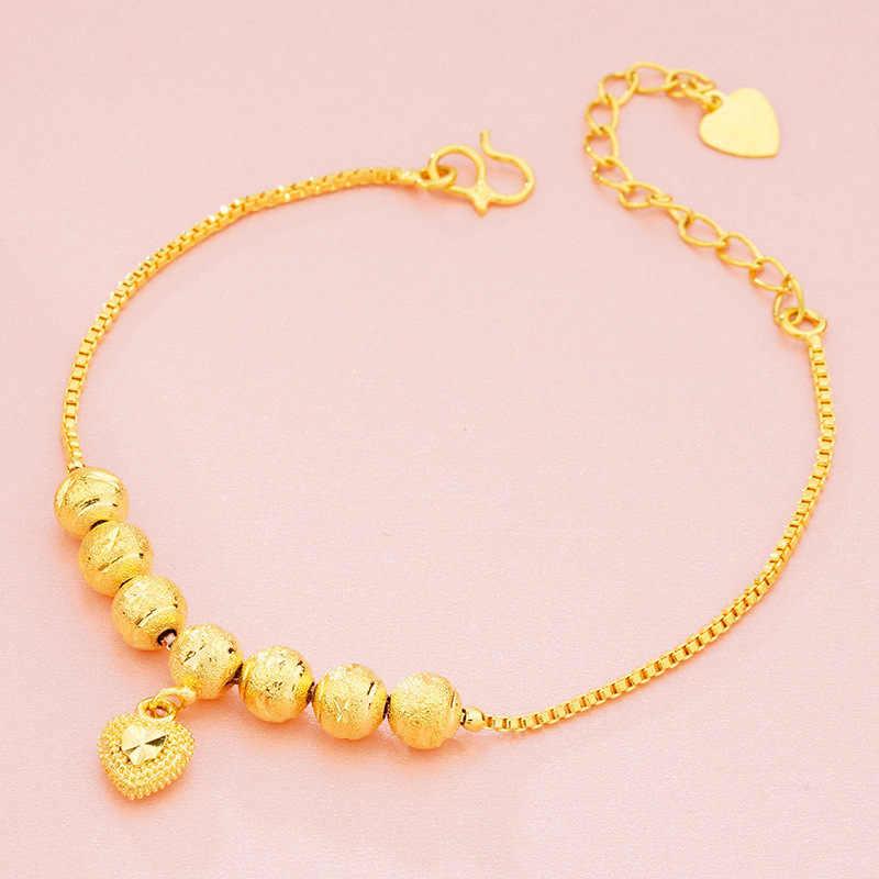 OMHXFC Оптовая Продажа Европейская мода Женская праздничный свадебный подарок счастливые бусы ключ подвеска для дамской сумочки 18KT золотые браслеты BE180