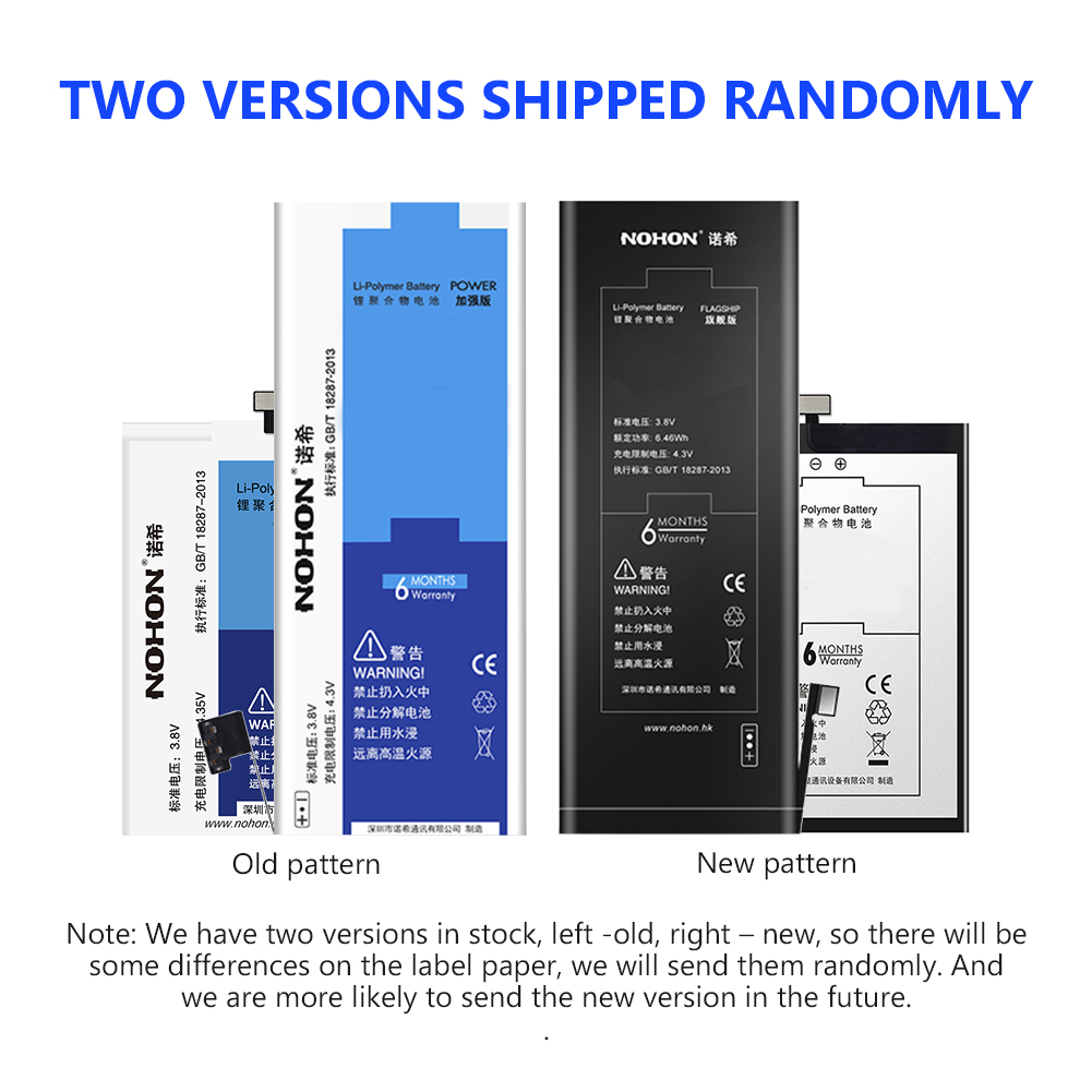 NOHON 3 82V 1624mAh Lithium Li ion Battery Cellphone Replacement Battery For Apple IPhone SE IPhoneSE Mobile Phone Repair Tools in Mobile Phone Batteries from Cellphones Telecommunications