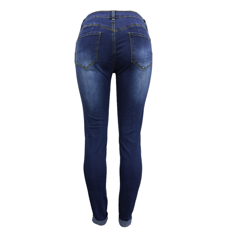 Women Jeans Pants Skinny Pearl Beaded Front Jeans Summer Spring Mid Waist Zipper Long Denim Casual Pants (17)