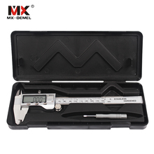 MX-DEMEL 0-150mm Metal Casing Paquimetro Digital Caliper Vernier Caliper Metal Digital Caliper Gauge Micrometer Measuring Tools
