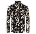 Nueva primavera 2016 hombres Camisa de la largo manga Chemise Homme Men algodón Camisa ocasional más tamaño M-3XL Camisa Masculina Camisas