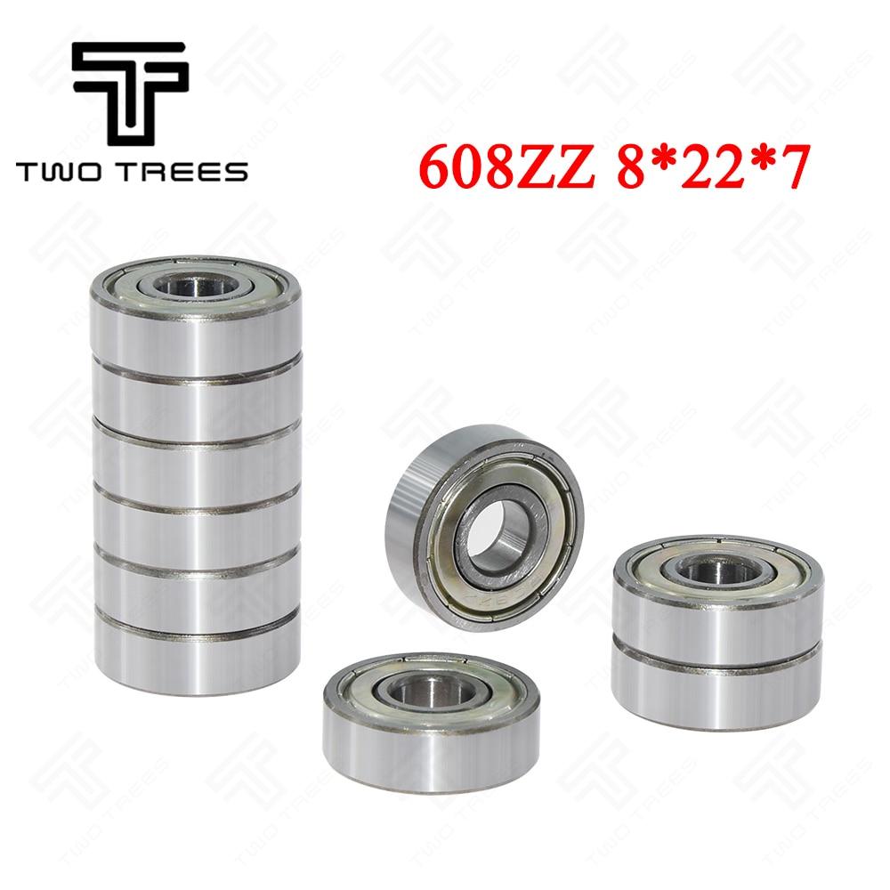10Pcs 608ZZ Deep Groove Ball Bearings 8*22*7mm for 3D Printer Bore