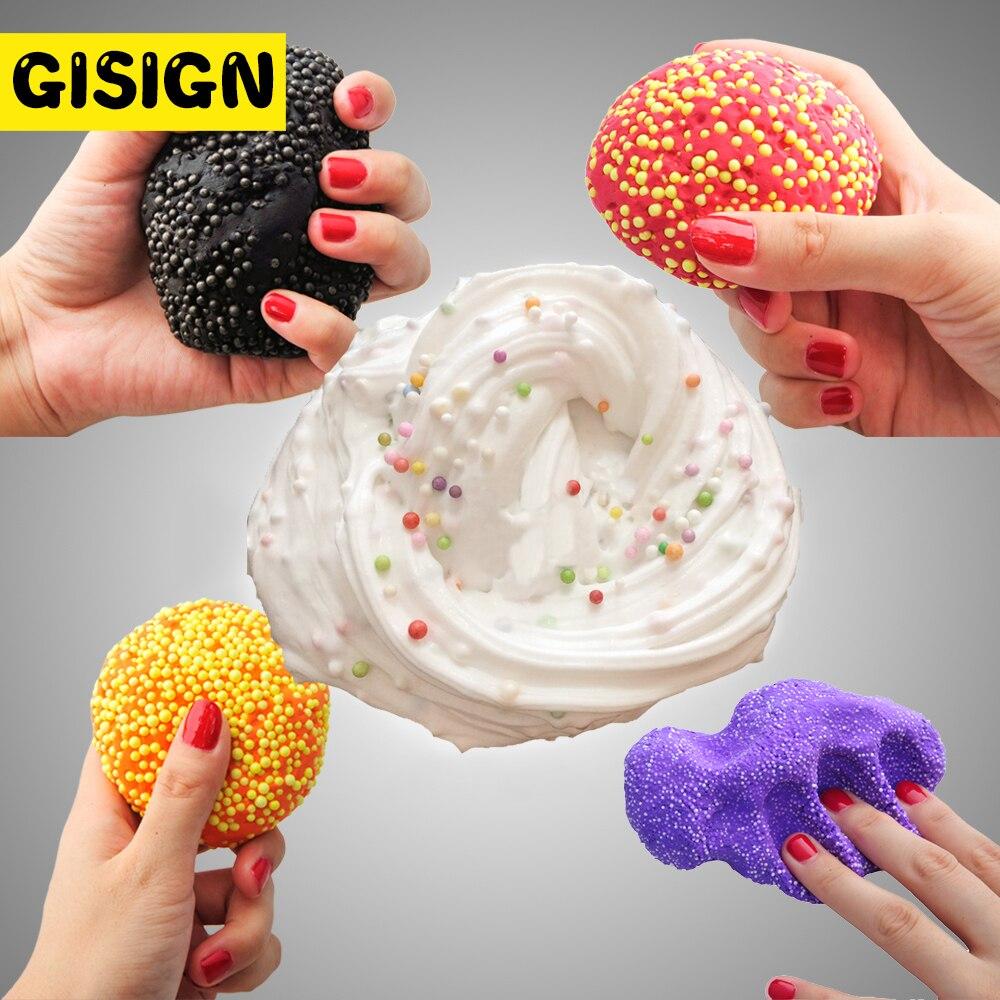 Fluffy Slime Foam Beads Glue Slime Toys Antistress Goo Charm Butter Slime Lizun Putty For Kids Children Hand Gum
