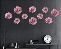Diy 2017 europea ceramica fiore wall hanging ornamento della famiglia sfondo murale arte e mestieri hotel/ristorante home decoration
