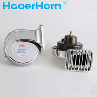 2015 New Arrival Snail Waterproof Car Motorcycle Double Frequency HORN High Quality 12V High Electric Bass