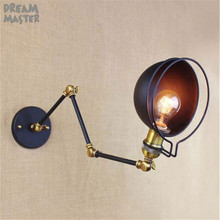 цена на Black wall lights bedside lamp mirror lamp indoor lighting wall lamps industrial sconce modern decoraciones de la pared lampada