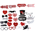 27pcs DIY Wedding Decoration Engagement Party Supplies Funny Picture Photo Booth Props Pink Valentine Day Mustache Lips Decor