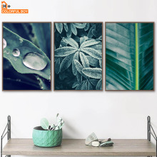 COLORFULBOY Wall Art Canvas Prints Green Leaves Nordic Posters And Painting Pictures For Living Room Decor