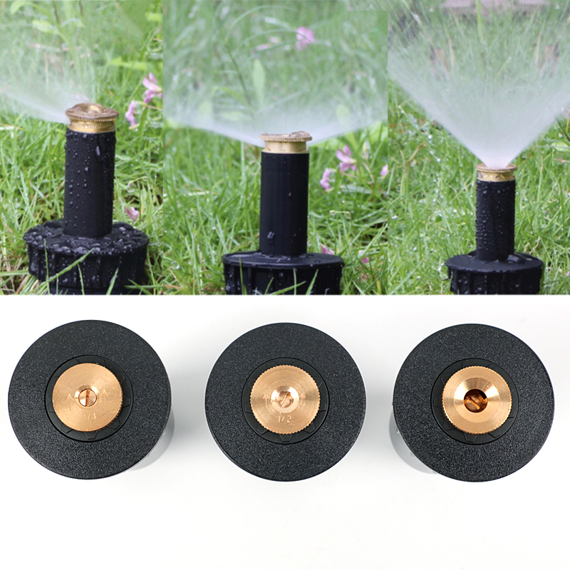 "1PC 90 360 Degree Pop up Sprinklers Plastic Lawn Watering Sprinkler Head Adjustable Garden Spray Nozzle 1/2"" Female Thread-in Garden Sprinklers from Home & Garden"